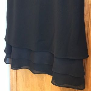 3-Tier-Look Michele Black Knee Length Skirt Size 8
